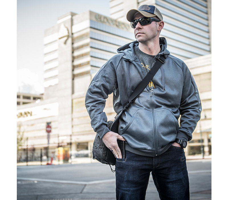 Urban Tactical Hoodie (FullZip) - Grey Melange