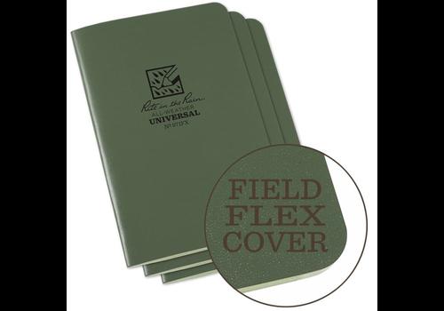 Rite in the Rain Field Flex Cover Notebook (3 stuks) 8,25cm X 11,75cm - Olive Drab