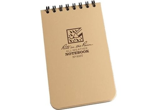 Rite in the Rain Pocket Top Spiral Notebook 7,62cm X 12,7cm - Coyote