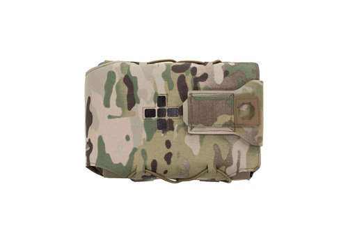 Warrior Laser Cut Large Horizontal Individual First Aid Kit Pouch - Multicam