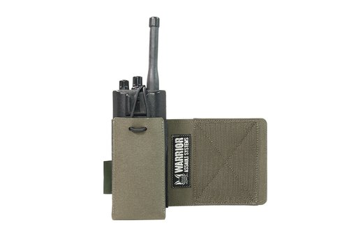 Warrior Laser Cut Wing Velcro Adjustable  Radio Pouch (Left Side)  - Ranger Green