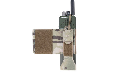 Warrior Laser Cut Wing Velcro MBITR/Harris Radio Pouch (Left Side) - MultiCam