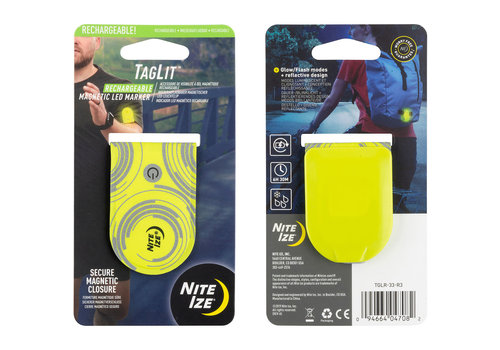 Nite Ize TagLit Rechargeable Safety Light - Neon Yellow