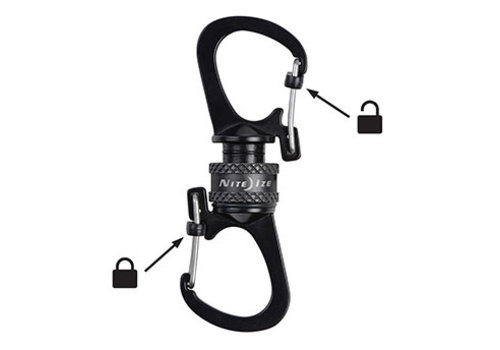 Nite Ize Carabiner Slidelock 360 Magnetic - Grey