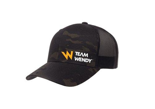 Team Wendy Trucker Hat - Multicam Black
