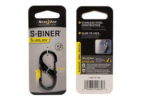 Nite Ize S-Biner #2 Slidelock Black