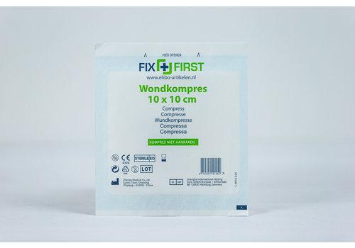 FixFirst Gaaskompres 10 X 10cm