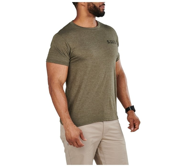 No Rucks Given Tee - Military Green Heather