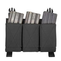 Detachable Triple Elastic Molle Pouch –Black