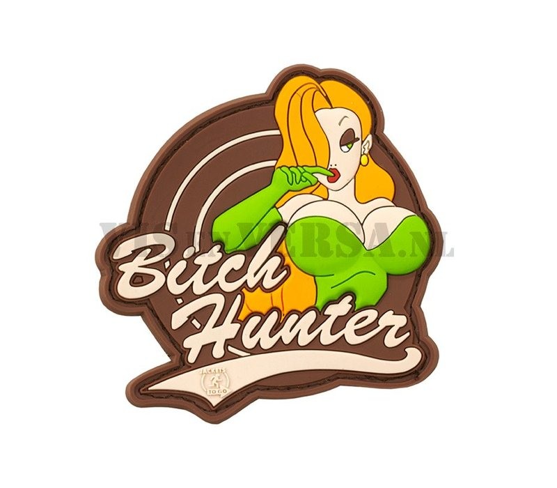 Bitch Hunter Rubber Patch - Full Colour