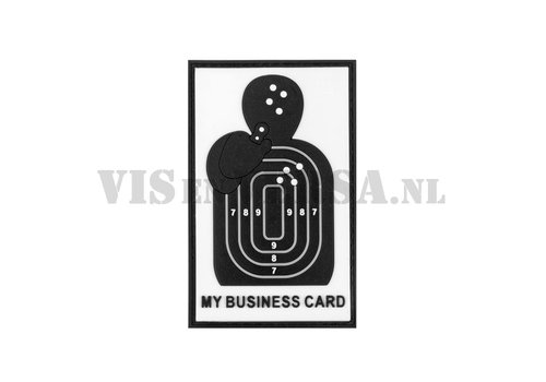 My Business Card Rubber Patch - Black/ White