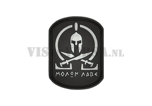 Molon Labe Rubber Patch - Schwarz