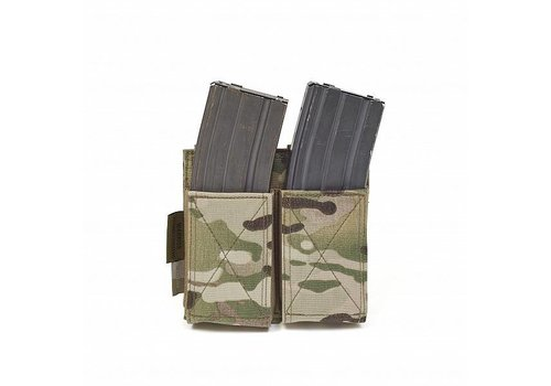 Warrior Double Elastic Mag Pouch - MultiCam