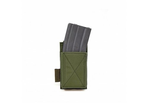 Warrior Single Elastic Mag Pouch - Olive Drab