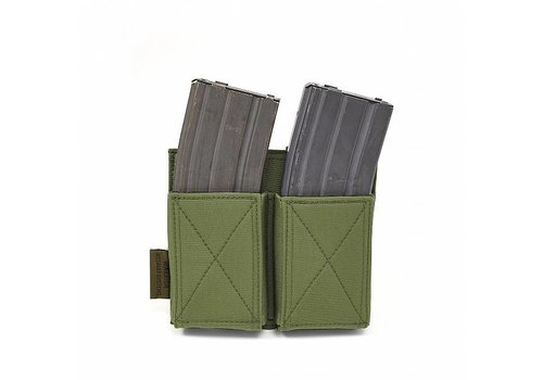 Warrior Double Elastic Mag Pouch - Olive Drab