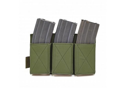 Warrior Triple Elastic Mag Pouch - Olive Drab