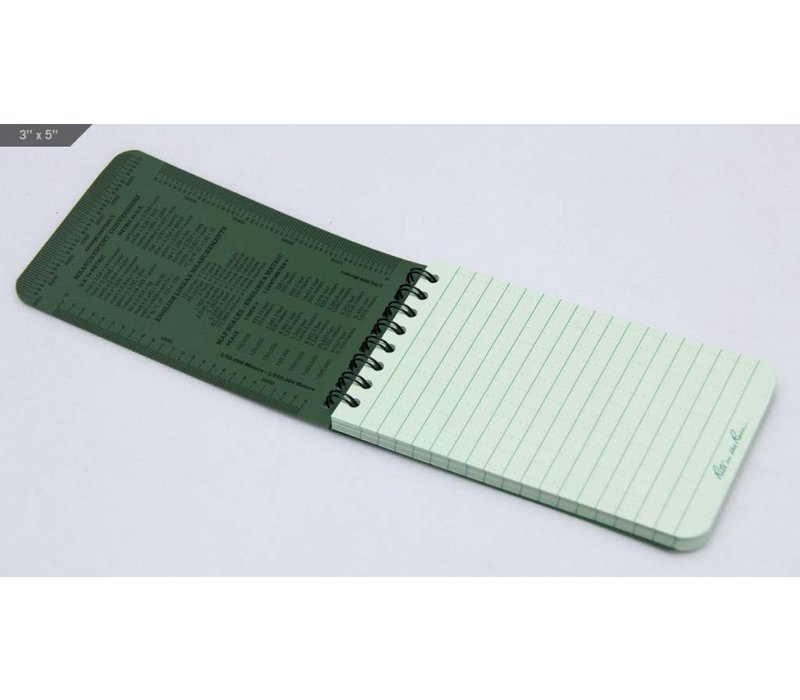 Pocket Top Spiral Notebook 10 X15cm - Olive Drab