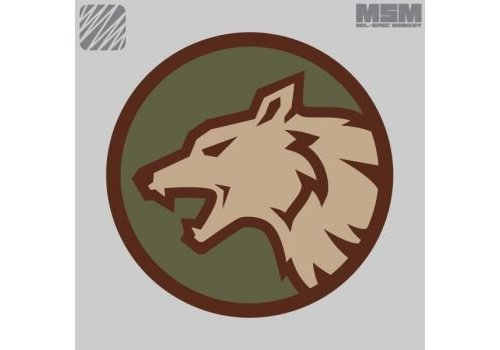 MilSpec Monkey Wolf Head Patch - Forest