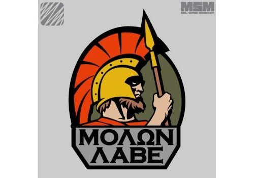 MilSpec Monkey Molon Labe Patch - MultiCam