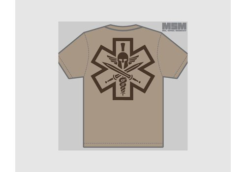 MilSpec Monkey Tac-Med Spartan T-shirt - Dusty Brown