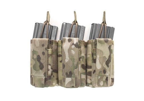 Warrior Triple Open 5.56mm Mag w 3 Pistol Mag Pouches - MultiCam
