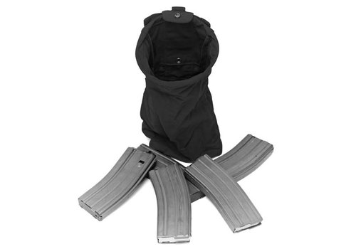 Warrior Slimline Foldable Dump Pouch - Schwarz