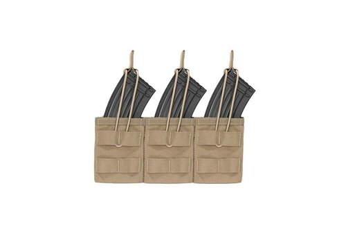Warrior Triple Open AK 7.62 Mag Pouch - Coyote Tan