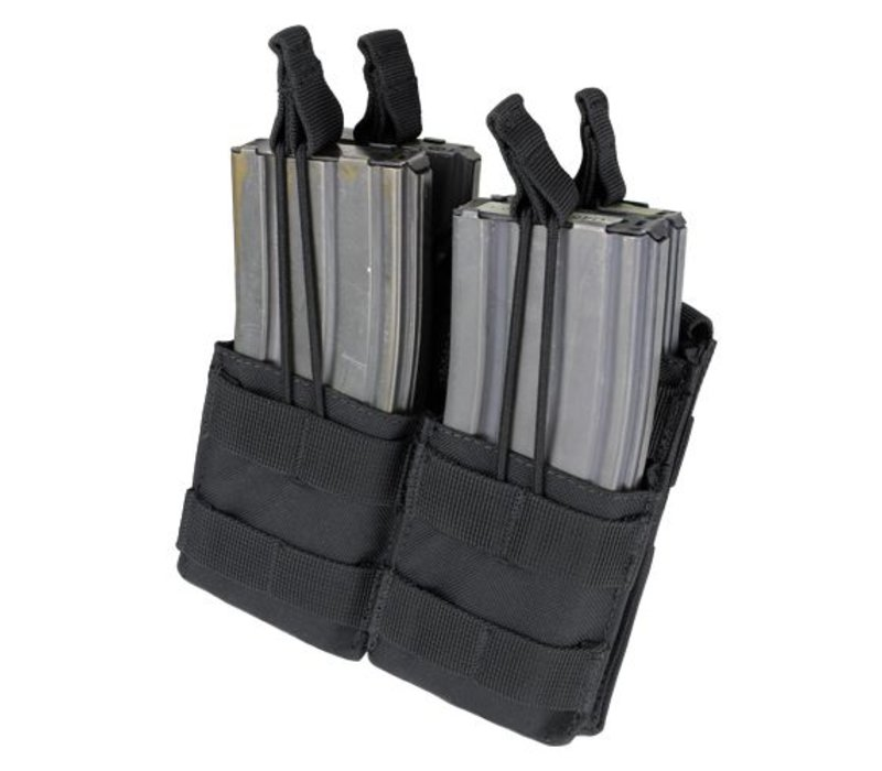 MA43 Double Stacker M4 Mag Pouch - Black