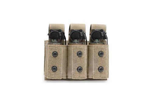 Warrior Triple 40mm Grenade / Flash Bang Pouch - Coyote Tan