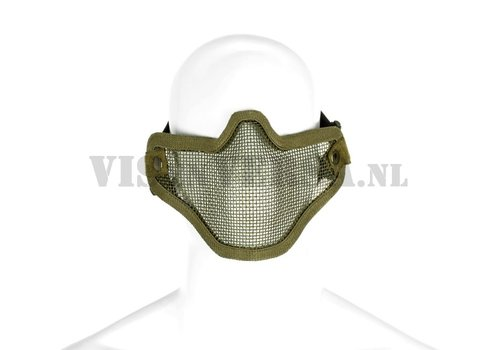 Invader Gear Stahl-halbe Gesichtsmaske - braunoliv