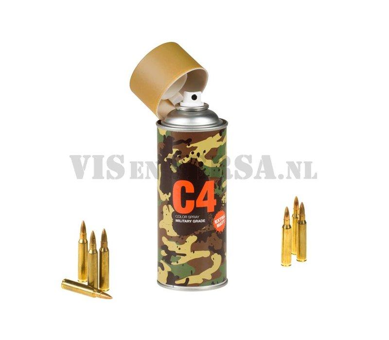 C4 Military Grade Color Spray RAL8000 ( Groen-bruin)