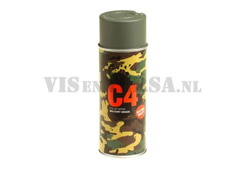 C4 Military Grade Color Spray RAL7009 ( Groen-grijs)