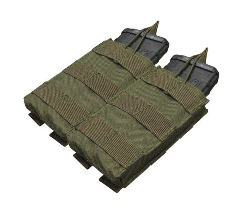 MA19 Double Open -Top M4 Mag Pouch - Olive Drab