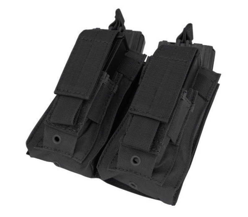 Double Kangaroo Mag Pouch - Black