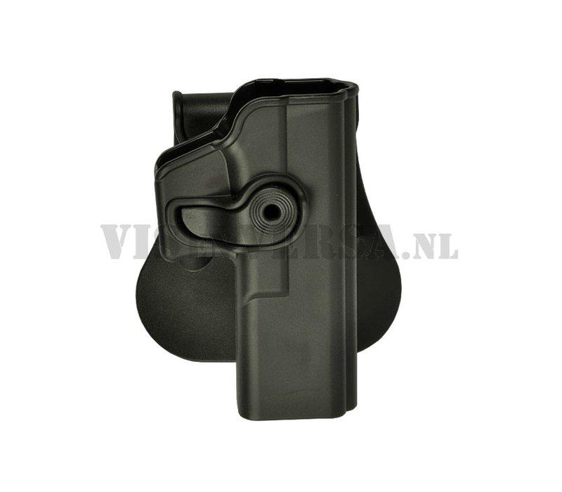 Glock 17/22/28/31 Holster links handig - Zwart