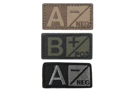 Condor 229 Blood Type Badge - Olive drab