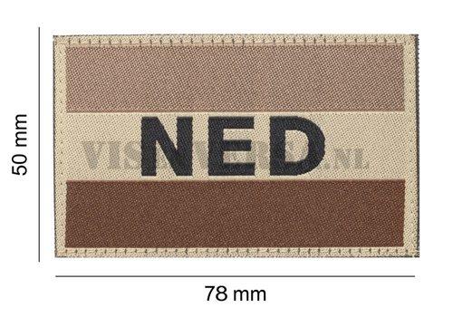 Claw Gear Nederlandse Vlag 50 X 76mm - Desert