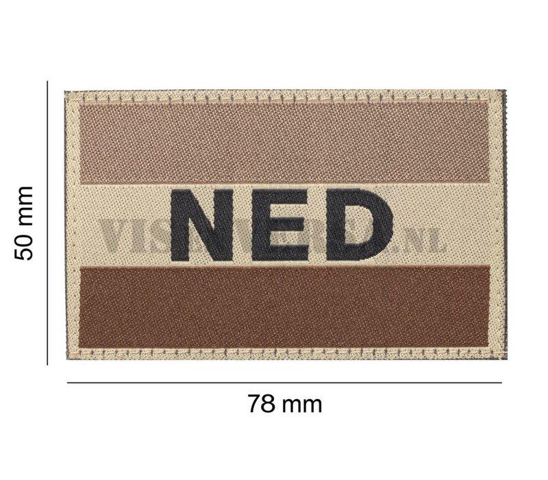Nederlandse Vlag 50 X 76mm - Desert