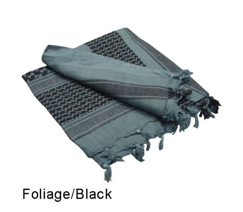 201 Shemagh - Foliage, Black