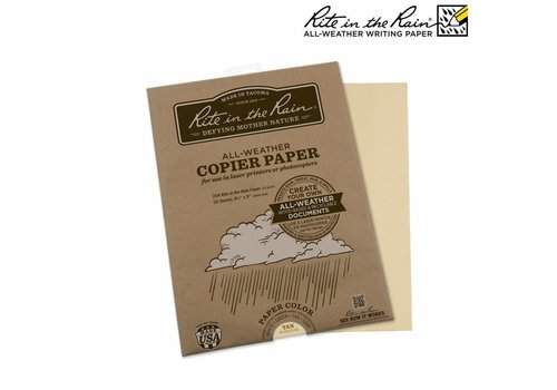 Rite in the Rain All Weather Copier paper A4 50 sheets - Tan