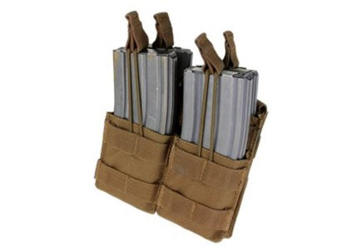 Condor Double Stacker M4 Mag Pouch - Coyote Brown