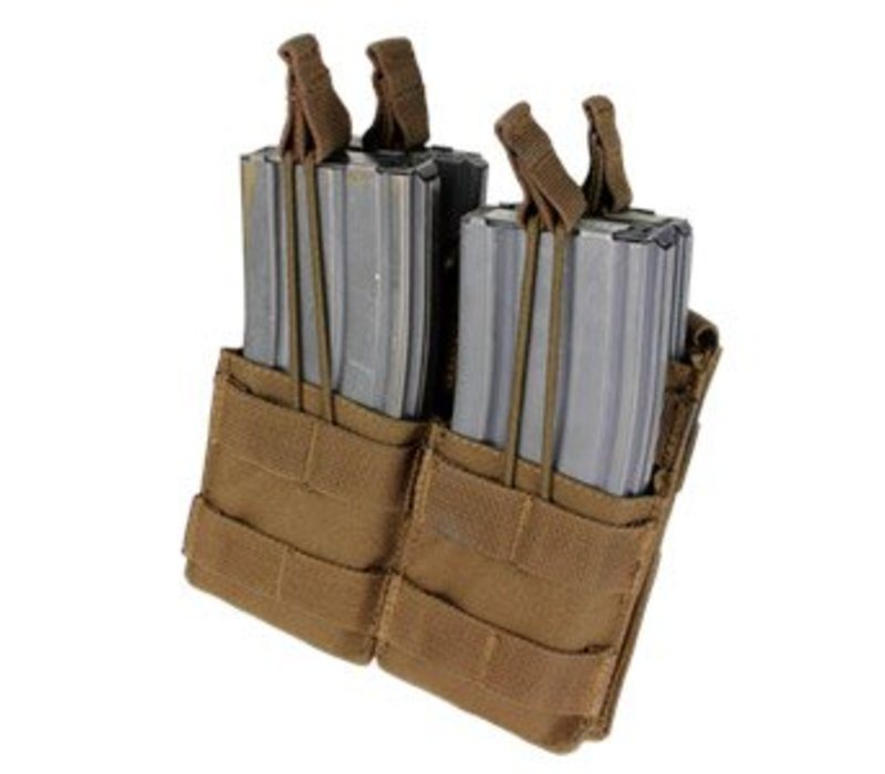 MA43 Double Stacker M4 Mag Pouch - Coyote Brown