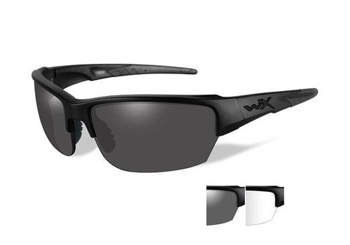 Wiley X WX Saint matte Black Frame/ Clear and Grey lenses