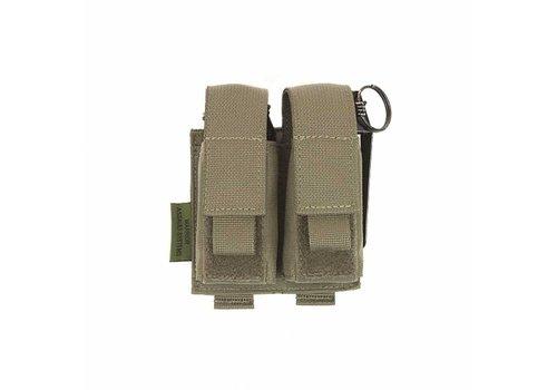 Warrior Double 40mm Grenade / Flash Bang Pouch - Ranger Green