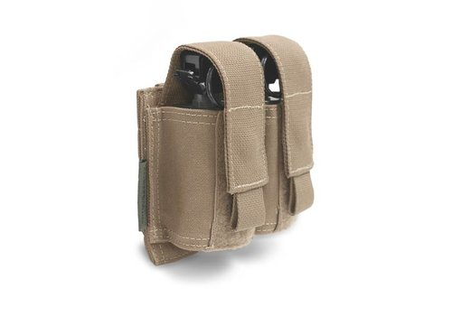 Warrior Double 40 mm Grenade - Flashbang Pouch - Coyote Tan