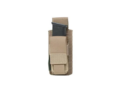 Warrior Direct Single 9mm Pistol Mag Pouch Direct Action - Coyote Tan