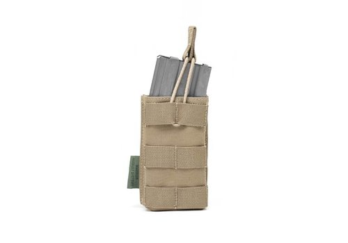 Warrior Single Open 5.56 Mag Bungee Retention - Coyote Tan