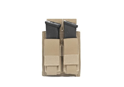 Warrior Elite OPS Direct Action Double 9mm Pistol Pouch - Coyote Tan