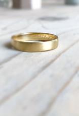 Atelier Maison Mannenring 4 - geel, wit en rosé goud - 4mm