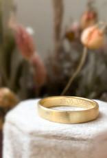 Atelier Maison Mannenring Smooth 4mm - geel, wit en rosé goud